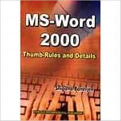 MS Word  2000 :ThumbRules and Details