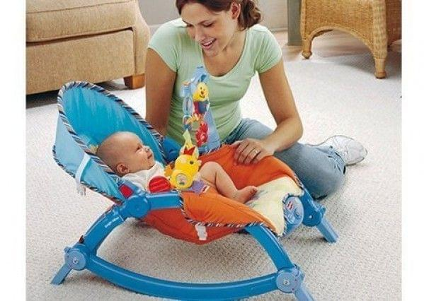 Saffire Newborn To Toddler Portable Rocker, Multi Color