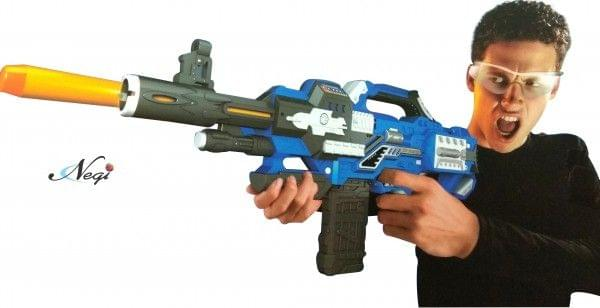Negi Big Size 70cm Long Blaze Storm Battery Operated Soft Bullet Gun Comes With 40 Safe Soft Foam Bullets, Battery & Charger are Included. USB CHARGING (BLAZE STORM 14)