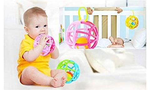 WP Newborn Baby Rattle Toy Bendy Ball Little Boys Girls Teether Ball Music and Shake and Roll Ball Gym Balls Ideal Gift for 3-18 Months Toddler, Infant, Children