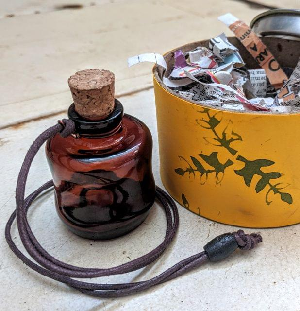 Wonky Bottle Locket - Message (Typewritten Message)