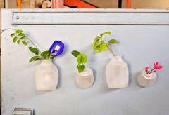 Mini Planter Fridge Magnet - Set of 4