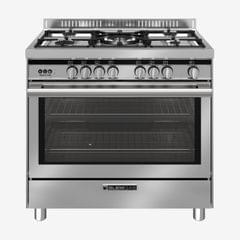 GLEM GAS | Cooker 5 Full Gas Burner Full Safety | Silver | ST9612RI (965RI)
