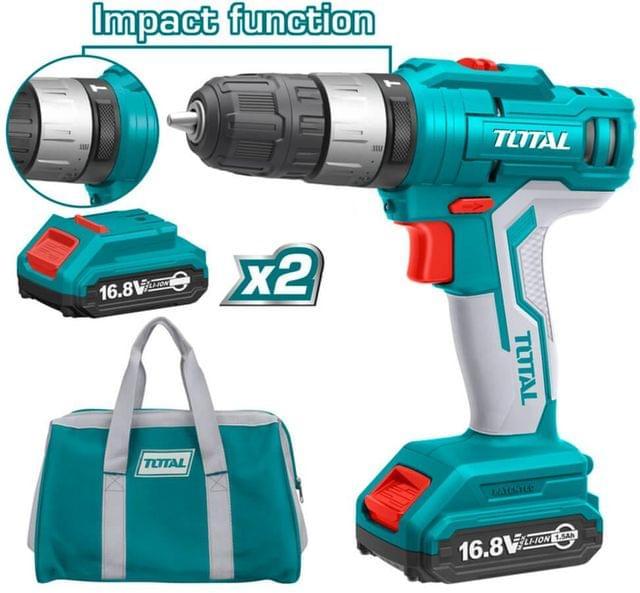 TOTAL | Impact drill | Lithium-Ion | 16.8V | TIDLI1612