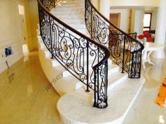 STEEL DECORATIVE STAIRCASE AND GRILLS, MODEL JDS203