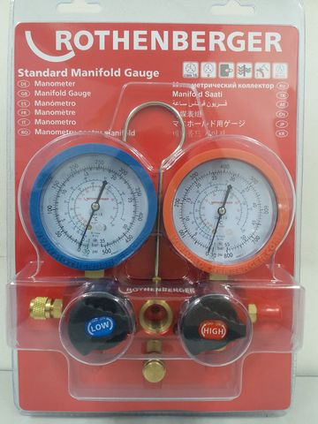 ROTHENBERGER | STANDARD MANIFOLD GAUGE 2 WAY | 80 MM | 170551