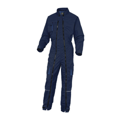 DELTAPLUS | MACH2 WORKING OVERALL IN POLYESTER COTTON | MACH2 WORKING OVERALL IN POLYESTER/COTTON - DOUBLE ZIP