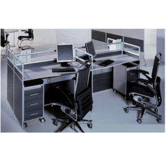 MIDEA | 2 SEATS WORKSTATION WITH MOBILE PEDESTAL STRAIGHT DESK | 1240 x 1320 x 1000