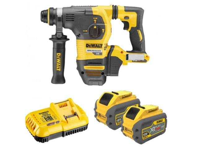 DEWALT | Cordless Rotary Hammer 54V Li-Ion SDS Plus | DCH333X2-GB