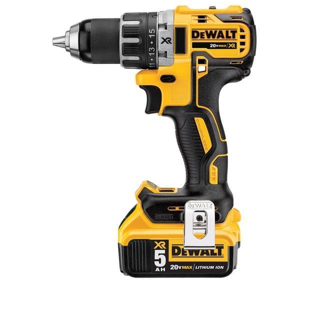 DEWALT | Cordless XR Li-Ion Brushless Compact Hammer Drill Driver 13mm 5.0Ah 18V | DCD791P2-GB