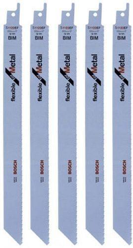 BOSCH |  Reciprocating Saw Blade | Flexible For Metal  | 225 mm (5 Pcs) | S1122EF | BO2608656020