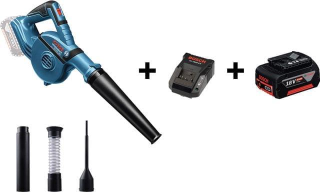 BOSCH   Combo Offer - Professional Cordless Blower Bare + Charger + Battery   GBL 18 V-120   1.1 KG   BO06019F5100