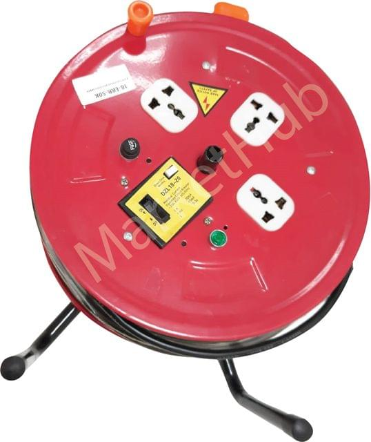 KMAX77 | Extension Reel 3 Socket | 50M Red Body| 18-ERR-50K