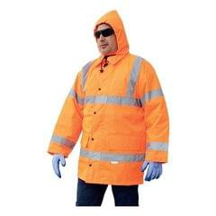 VAULTEX | Winter Jacket Polyester With Polyurethane Orange Size-S - 4XL | JGO