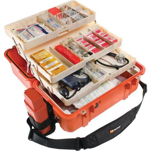 PELICAN | Case with EMS Organizer Divider Set Orange | 1460-005-150