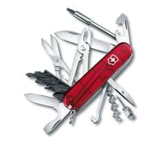 Victorinox   Swiss Army Knives   CyberTool M Knives Red Transparent  4 Inch  1.7725.T