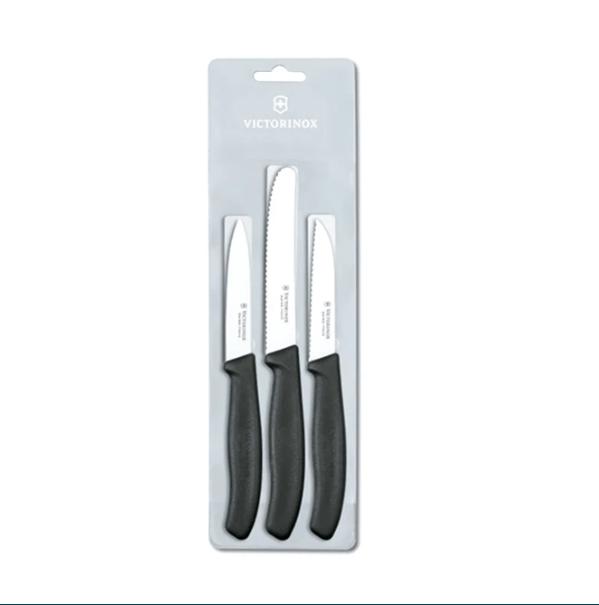 Victorinox | Cutlery | Swiss Classic Vegetable Knives Set of 3 Black | 6.7113.3