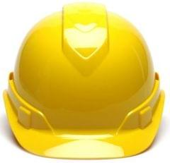 PYRAMEX | Ridgeline Cap Style Hard Hat with 4-Point Vented Ratchet | Safety Helmet | Hi-Vis-Yellow |  HP44130V