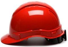 PYRAMEX | Safety Helmet | Ridgeline Cap Style Hard Hat with 4-Point Vented Ratchet, Red | HP44120V