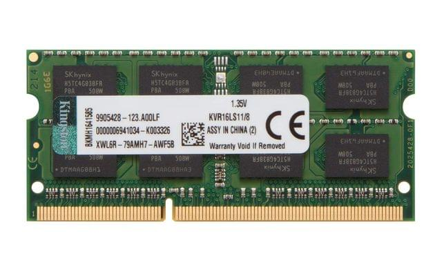 KINGSTON | 8GB 1600MHz DDR3L (PC3-12800) | 1.35V Non-ECC CL11 SODIMM | Intel Laptop Memory | KVR16LS11/8