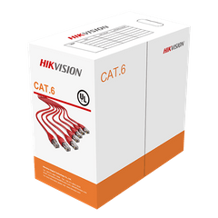 HIKVISION | UTP CAT6 Network Cable | PVC Solid Bare Copper | 305 Meters | 0.5mm | DS-1LN6-UU
