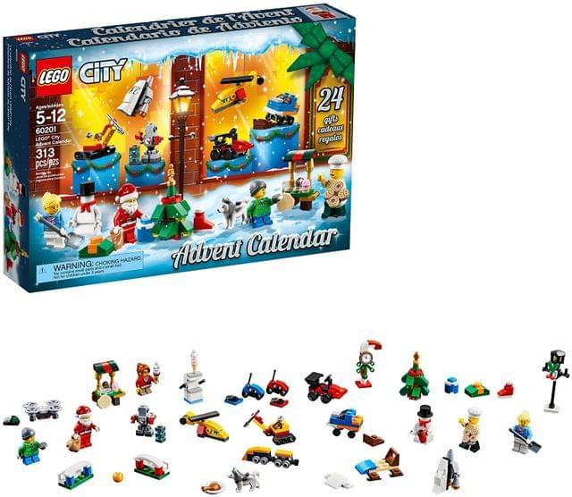 LEGO TOYS   City Advent Calendar   City Town   AGE: 5+   60201
