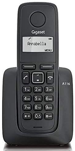 GIGASET | Cordless Phone Speakerphone | Black | S30852-H2801-A701 (A116)
