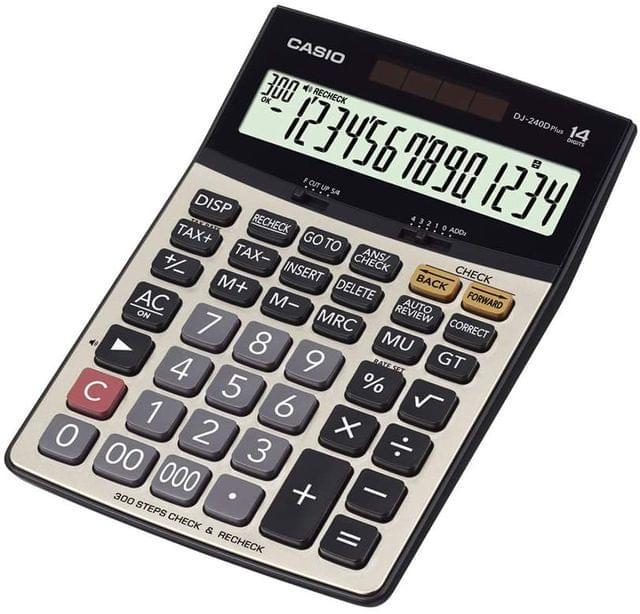 CASIO | Step Control Desktop Calculator | 259g | DJ-240DPLUS-WA-DP