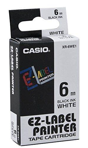 CASIO | Label Printer Tape | 6 mm | White | XR-6WE1-W-DJ1