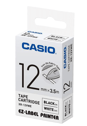 CASIO | Label Printer Tape | 12mm | 41g | XR-12VWE-W-DH