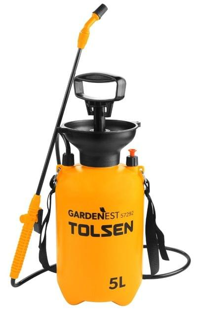 TOLSEN | Manual Pressure Sprayer 5L with Carrying Belt | Pump Action  | 2.0 Bar