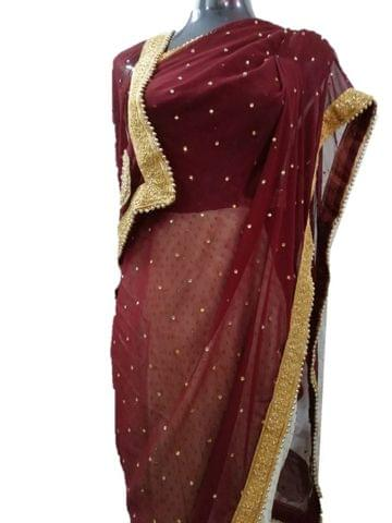 SAREE DESIGNER BROWN