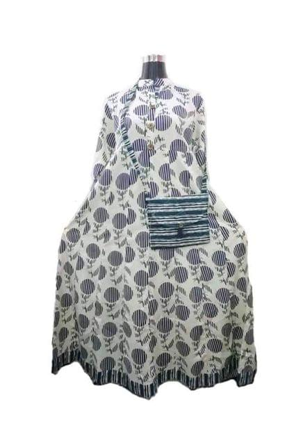 DESIGNER FROCK WITH PURSE