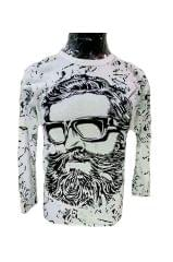 Men's Cool Beard Personalise Printed Polyester Sports Round Neck T-Shirt