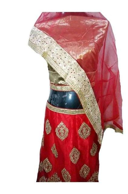 RED AND GOLDEN LAHENGA