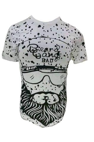 t-shirt men beard gang bad