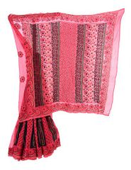 Rohia by Chhangamal Cotrast Border with Designer Palla Lehnga Style chikan Saree
