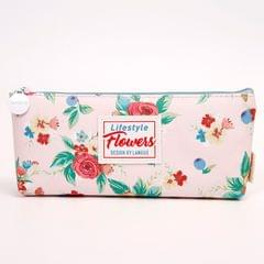 Ink The Town Pink Flower Pencil Pouch