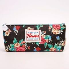 Black Flower Pencil Pouch