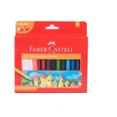 Faber Castell Erasable Crayons Grip 12 Shades