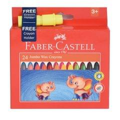 Faber Castell Wax Crayon (Regular 75mm PK-16)