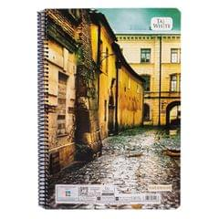 Taj White  A4 Spiral Notebook 300 Pages