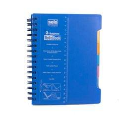Solo NA 555 5 Subject Blue Notebook