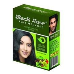 BLACK ROSE - KALI MEHANDI HAIR DYE - BLACK - 50 Gms