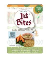 PRISTINE - 1st BITES - BABY CEREAL WITH MILK - WHEAT,SPINACH AND CARROT POWDER - 300 Gms