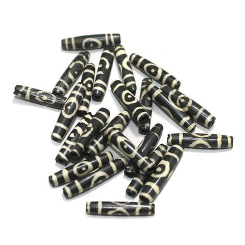 25 Pcs Bone Beads 1 Inch Tube