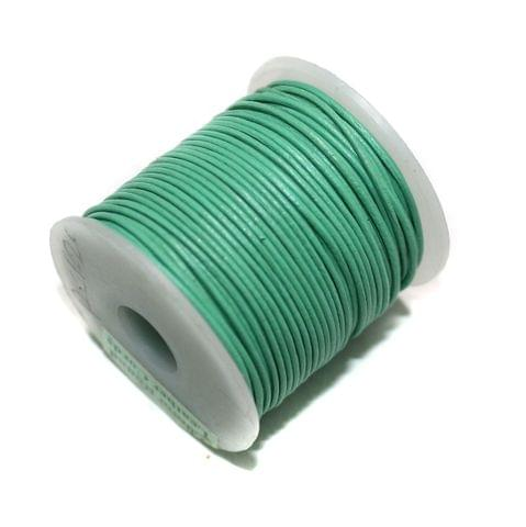 Jewellery Making Leather Cord 1 Aqua Green-25 Mtr