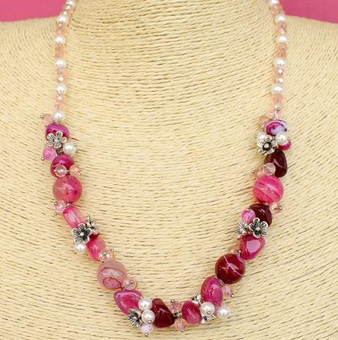 Onyx Pearl Tumbled Beaded Premium Necklace Set