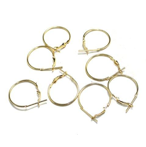 5 Pairs Metal Earrings Components Round 25mm