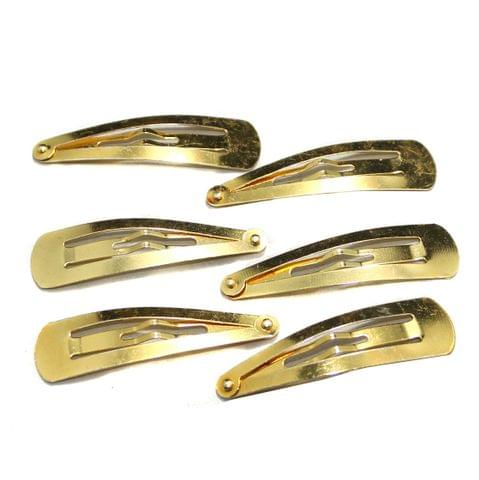 20 Pcs Golden Tik Tok Hair Clips 47x13mm